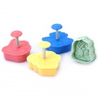 3D Princess Image Shaped Biscuit Cookie Cutter Mold Set (4-Piece Pack)