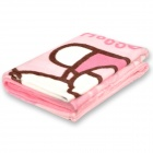 Cute Hello Kitty Pattern Coral Fleece Blanket - Pink (200 x 150cm)