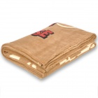 Cute Mickey Mouse Pattern Coral Fleece Blanket - Coffee (200 x 150cm)