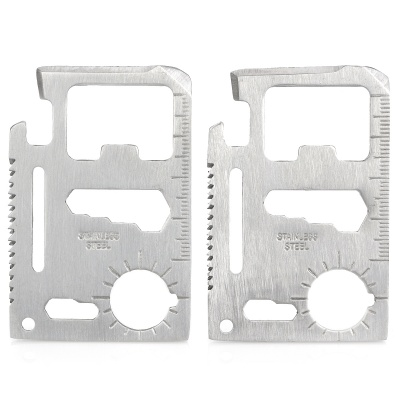 Stainless Steel 11-in-1 Multi-Functional Tool Card (2PCS)