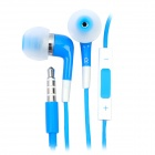 Stylish In-Ear Earphone w/ Microphone / Volume Control for iPhone 4 / 4S / iPod / iPad - Blue