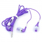 Stylish In-Ear Earphone w/ Microphone / Volume Control for iPhone 4 / 4S / iPod / iPad - Purple
