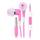 Stylish In-Ear Earphone w/ Microphone / Volume Control for Iphone 4 / 4S / Ipod / Ipad - Pink