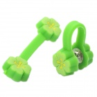 Cute Flower Style Multi-Function Clamp / Cable Cord Manager Organizer - Random Color (2 Pieces Pack)