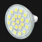 GU5.3 3.8W 6500K 295-Lumen 21-LED White Light Bulb (AC 85~265V)