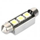 41mm 0.6W 6500K 45-Lumen 3-5050 SMD LED White Light Car Width / Reading Lamp (DC 12~18V)