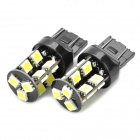 7443 / 7440 / T20 3.8W 6500K 266-Lumen 19-5050 SMD LED White Light Car Lamps (DC 12V / Pair)