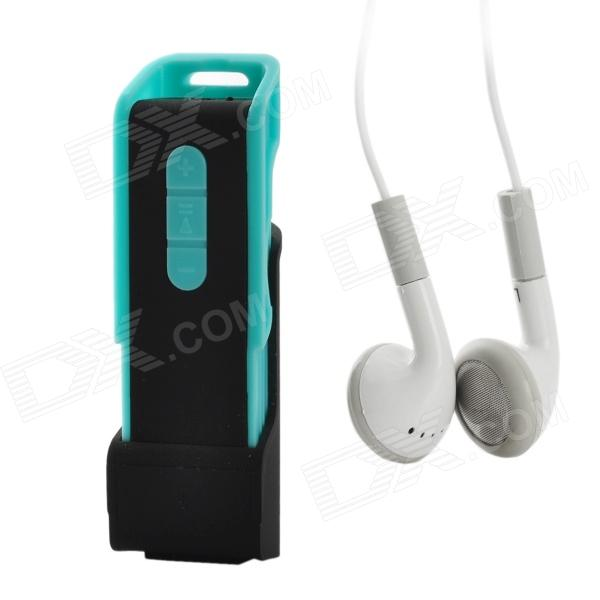 Multi-Function Rechargeable MP3 Player with TF / FM / Earphone - Blue + Black