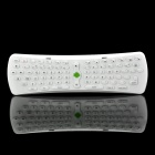 2.4GHz Mini Handheld Wireless Keyboard with Integrated Mouse Function - White (3 x AAA)