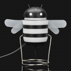 Cute Bee Style USB Powered Speaker - Black + White (3.5mm Jack)