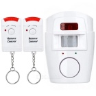 Plug-n-Play IR Motion Sensitive Home/Office Security Alarm with 2*Remotes