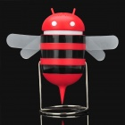 Cute Bee Style USB Powered Speaker - Black + Red (3.5mm Jack)
