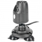 3W Aquarium Fish Tank Wave Maker - Preto (AC 220 ~ 240V / 2-Flat-Pin Plug)