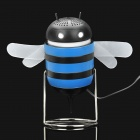 Cute Bee Style USB Powered Speaker - Black + Blue (3.5mm Jack)
