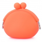 Stylish Silicone Purse Wallet - Orange