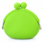 Stylish Silicone Purse Wallet - Green