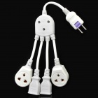 1-to-4 Octopus Type AC Outlet Socket Adapter - White (250V)