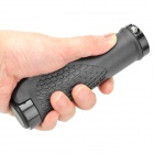 Anti-Slip Cycling Grips Bicycle Bar End Handlebar - Black (Pair)