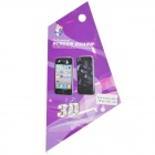 Protective Front Screen Protector + Water Cube Effect Back Cover Skin Sticker for Iphone 4 / 4S