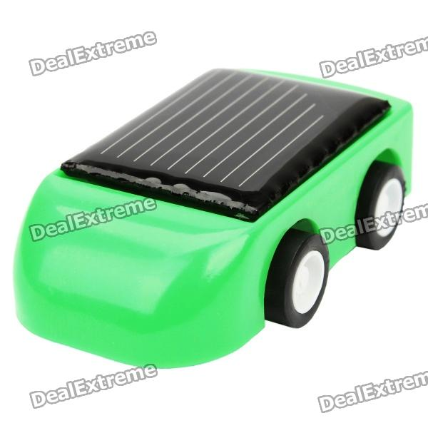 Mini solar powered toy car - random color...