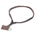 Fashion Cool Punk Style Pendant Necklace - Bronze + Silver (Retro Lighter Theme)