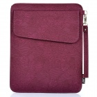 Protective PU Leather Case Pouch for Ipad 2 / The New Ipad - Purple