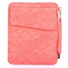 Protective PU Leather Case Pouch for iPad 2 / The New iPad - Pink