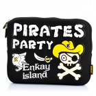 Pirate Pattern Protective Padded Inner Bag for iPad 2 / The New iPad - Black