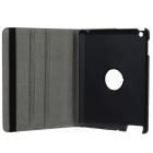 360 Degree Rotation Protective PU Case for Ipad 2 - Grey