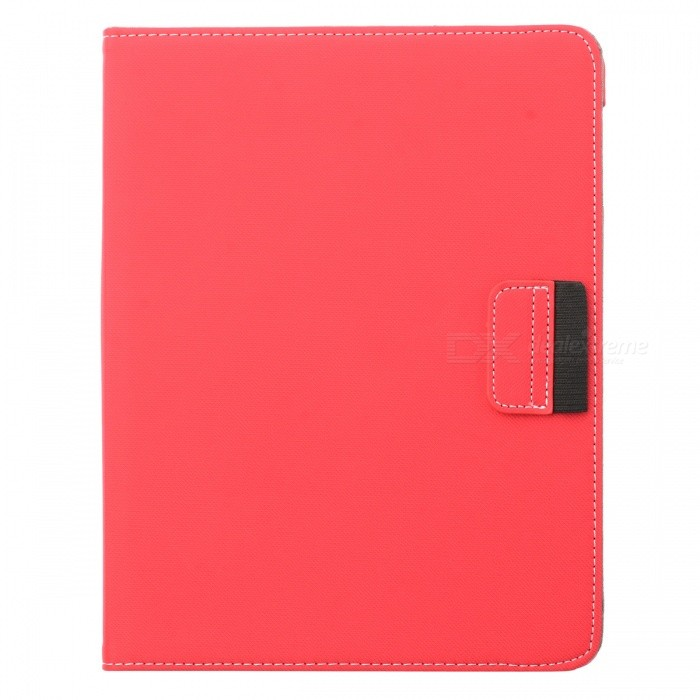 360 Degree Rotation Protective PU Leather Case for Ipad 2 / The New Ipad - Red protective pu leather 360 degree rotation case for ipad 2 3 4 blue