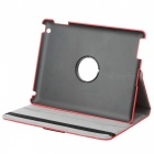 360 Degree Rotation Protective PU Leather Case for Ipad 2 / The New Ipad - Red