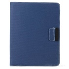 360 Degree Rotation Protective PU Leather Case for Ipad 2 / The New Ipad - Blue