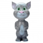 Touch Talking and Recording Cat - Grey (2 x AA)