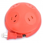 3 x 2-Flat-Pin + 1 x 3-Flat-Pin Sockets Power Adapter (2-Flat-Pin Plug / Random Color)