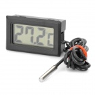 "Mini 1.5"" LCD Digital Thermometer with Detecting Probe - Black (2 x LR44)"