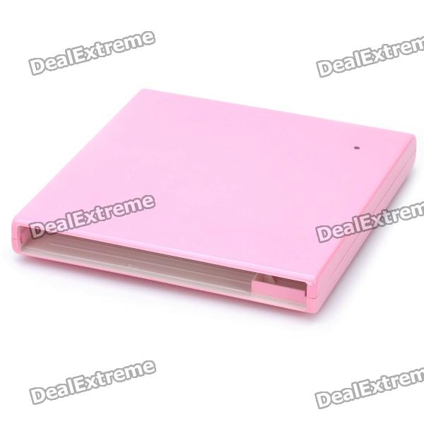 USB 2.0 12.7mm SATA Laptop Optical Drive External Case Set - Pink
