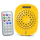 Portable Multifunction Loudspeaker + FM Radio + MP3 Music Player w/ TF Slot - Yellow + Black