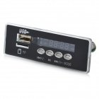 "Módulo de Reproductor MP3 con pantalla LED 1.0"" FM/USB/Mini USB/SD/Control Remoto - Color Negro (12V)"