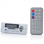 "1.0"" LED MP3 Player Module w/ FM/Remote Controller/USB/Mini USB/SD Slot - Silver (5V)"