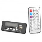 1.0&quot; LED Car MP3 Player Module w/ FM/ USB/Mini USB/SD/Remote Controller - Black (12V)