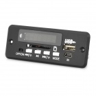 "1.0"" LED Car MP3 Player Module w/ FM/ USB/Mini USB/SD/Remote Controller - Black (12V)"
