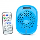 Portable Multifunction Loudspeaker + FM Radio + MP3 Music Player w/ TF Slot - Blue + Black