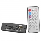 MP3 Hardware Decoder w/ FM/Remote Controller/USB/Mini USB/SD Slot - Black (5V)