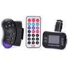 "1.5"" LCD Car MP3 Player FM Transmitter w/ USB / SD / TF / Dual Remote Controls - Black (DC 12~24V)"