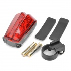 3-Mode 5-LED Red Light Bike Safety Tail Lamp w/ Red Lasers (2 x AAA)