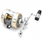 Professional Drum Style Fishing Reel - Silver + Light Golden
