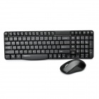 Rapoo X1800P 5.8Ghz Wireless 105-Key Keyboard + 1000DPI Mouse Set w/ USB Receiver - Black