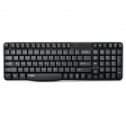 Rapoo E1050 2.4Ghz Wireless 108-Key Keyboard w/ USB Receiver - Black