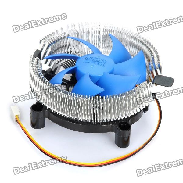 Professional CPU Heatsink with Cooling Fan - Silver + Blue + Black pccooler 4 heatpipes radiator quiet 4pin cpu cooler heatsink fan cooling with 120mm fan for amd 754 939 940 am2 am2 am3 fm1 fm2