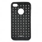 Novel Hollow-out Knitting Texture Pattern Protective Case for iPhone 4/4S - Black